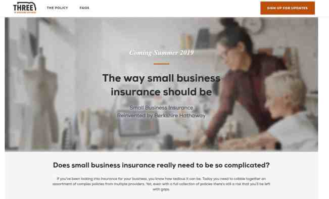 New small business insurance policy THREE from Berkshire Hathaway