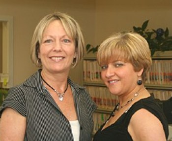 photo of Madeleine Brooks and Rosemary Mirabal who are joining the Michaud Agency