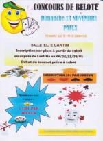 concours de belote le 13 novembre 2016 à 44270 Paulx