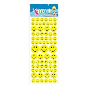 Stickervel smiley faces 216x voor kinderen