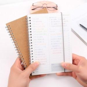 Notebook planner agenda boek dagboek Kraft mini papier Kladblok (Kraft papier cover)