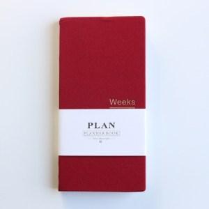 Klassieke hardcover Office school per planner notebooks briefpapier persoonlijke agenda planner organisator grootte: A6 18.9 x 9.4 cm (rood)