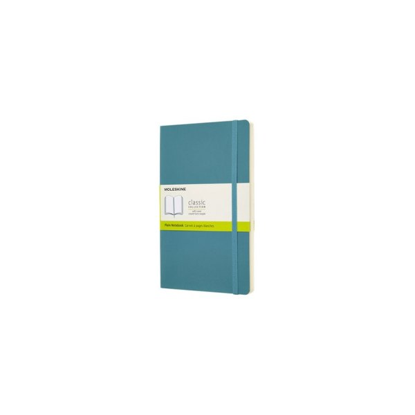 Notitieboek Moleskine L 130x210mm blanco reef blue