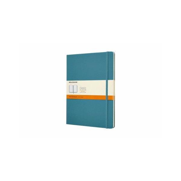 Notitieboek Moleskine XL 190x250mm lijn reef blue