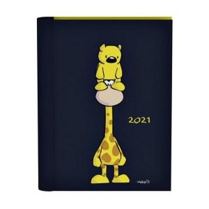 Agenda 2021 wire-o zwart giraf&beer vis