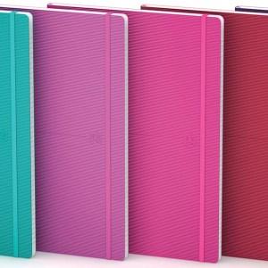 Oxford Signature Business Journal met flexibele kaft, ft B5, geruit 5 mm, geassorteerde felle kleuren