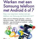 Werken met een Samsung telefoon met Android 6 of 7