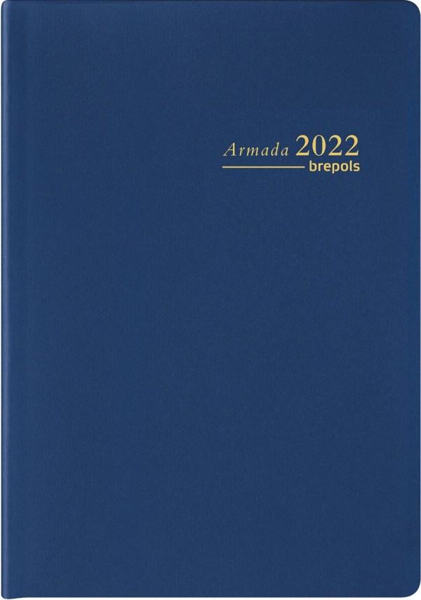 Brepols agenda Armada Seta 4-talig, blauw, 2022