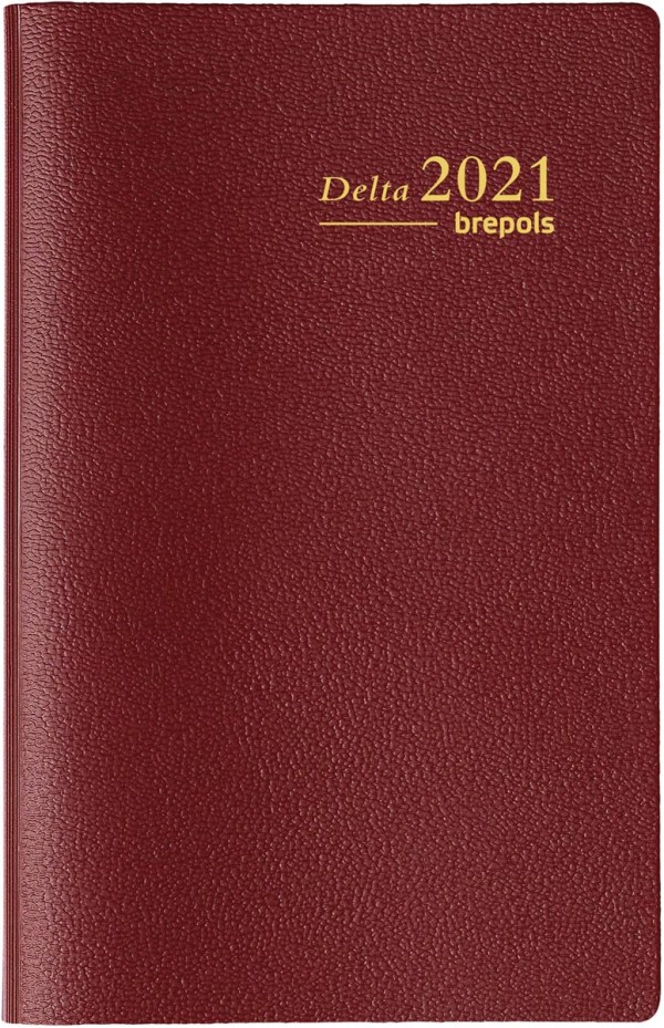 Brepols agenda Delta Seta 6-talig, bordeaux, 2022