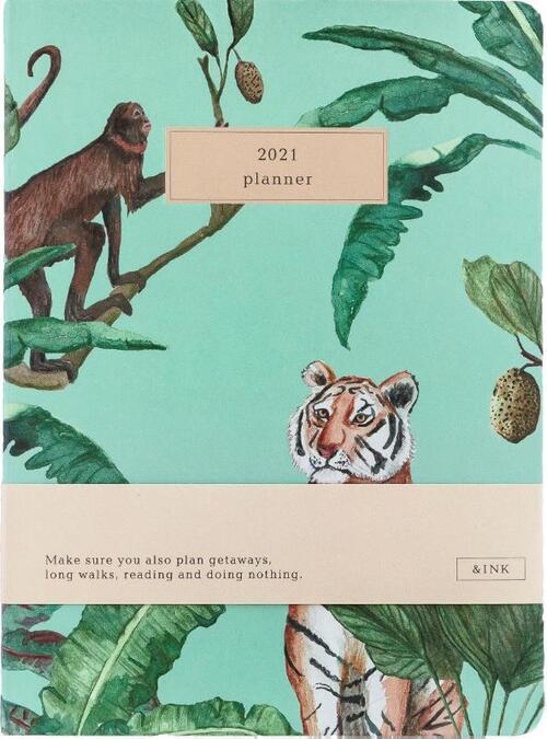&INK Agenda 2021 - Botanisch - Groen - Overig (8719992460779)