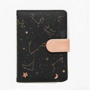 2453 creatief sterrenbeeld schema planner notebook kawaii scrapbook zachte cover dagboek notebooks Office School Supplies (zwart)
