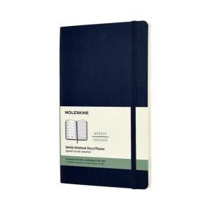 Agenda 2020 Moleskine 12mnd large soft blauw