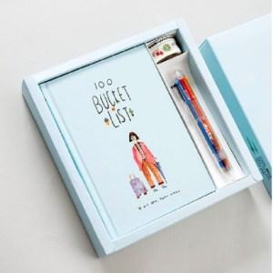 Planner Agenda planner notebook briefpapier cadeau met pen & stickers (hemelsblauw)