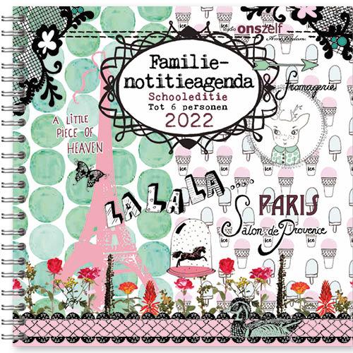 Studio Onszelf Familie agenda 2022 - Parijs - Schooleditie