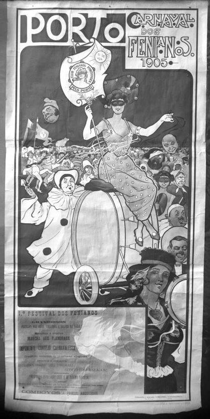 Carnaval dos Fenianos, 1905 - cartaz publicitário