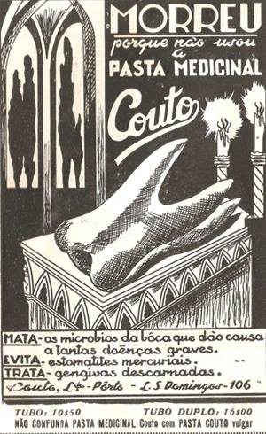 Pasta Medicinal Couto, na década de 1930