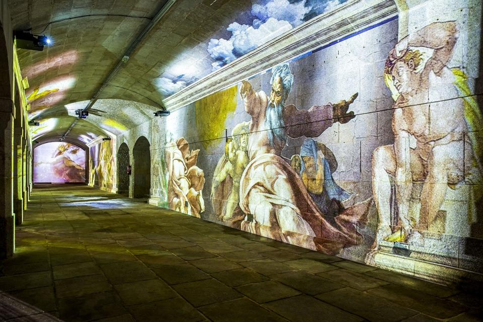 Michelangelo e Leonardo Da Vinci na Alfandega