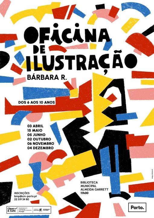 Oficina de Ilustração na Biblioteca Municipal Almeida Garrett