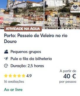 Passeio de Veleiro no Douro