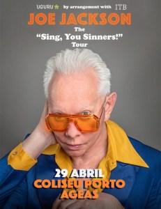 "Joe Jackson ""Sing You Sinners!"" Tour no Coliseu do Porto"