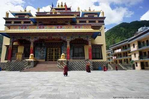 Giovani monaci al tempio buddhista di Dollu