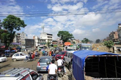 Un esempio del traffico di Kathmandu