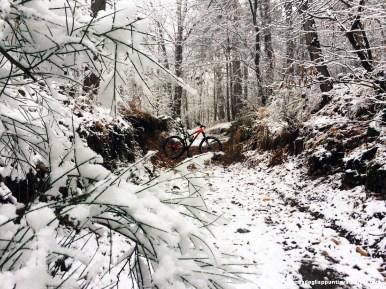 Killing Friday uscita in MTB al Campo dei Fiori con la neve fresca