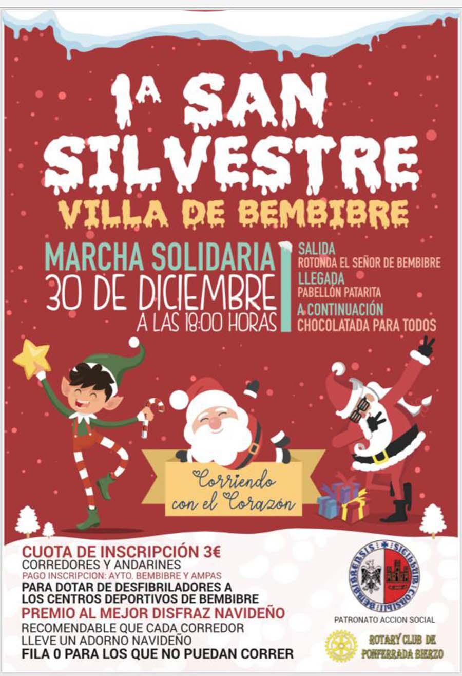 primera san silvestre solidaria villa de bembibre el bierzo