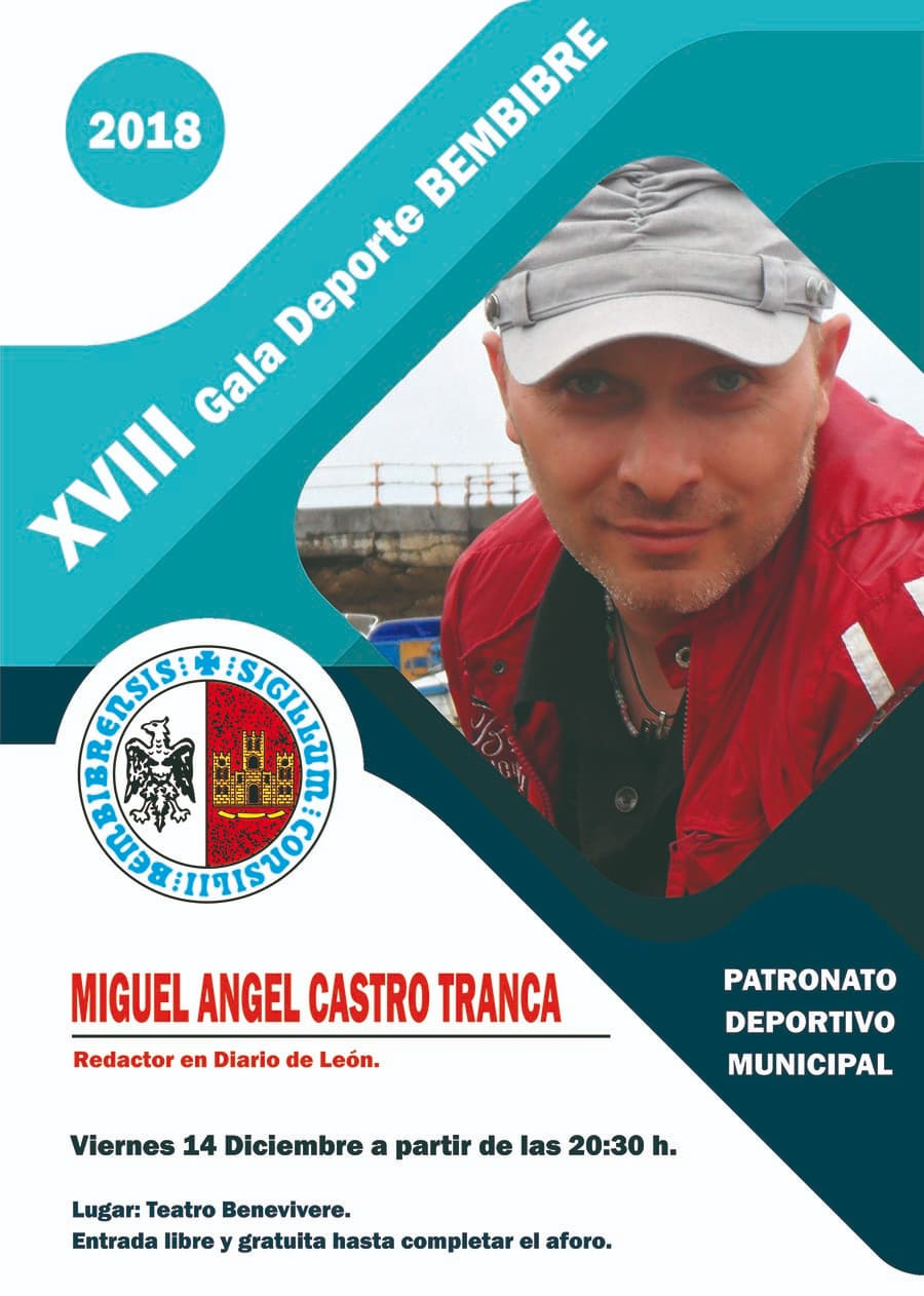 cartel xviii gala deporte bembibre el bierzo