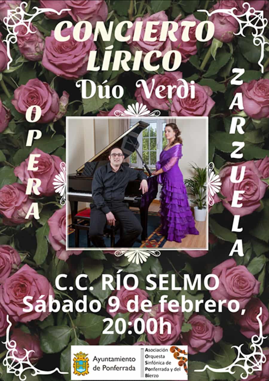 cartel duo verdi concierto primavera sala rio selmo ponferrada el bierzo