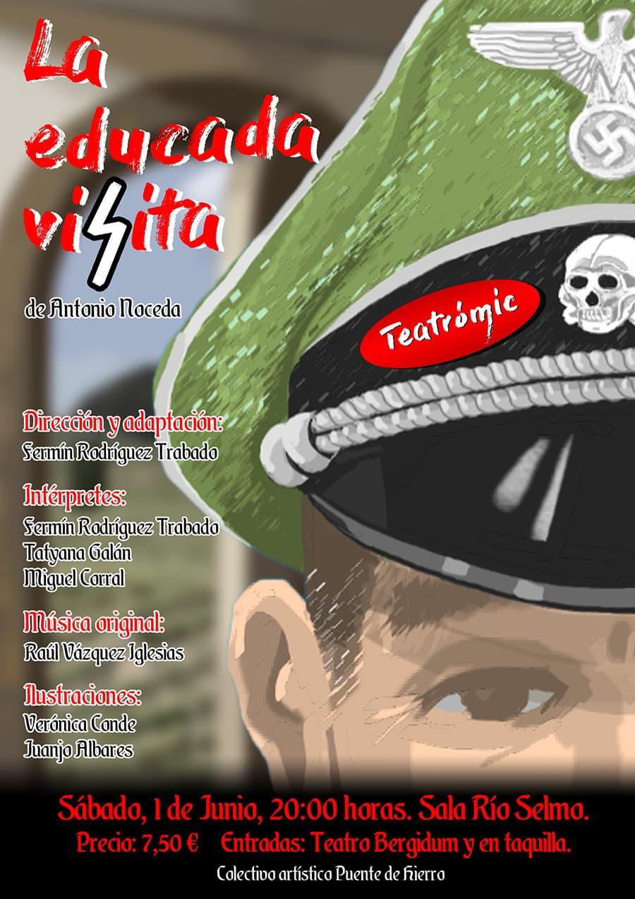 cartel la educada visita rio selmo ponferrada el bierzo