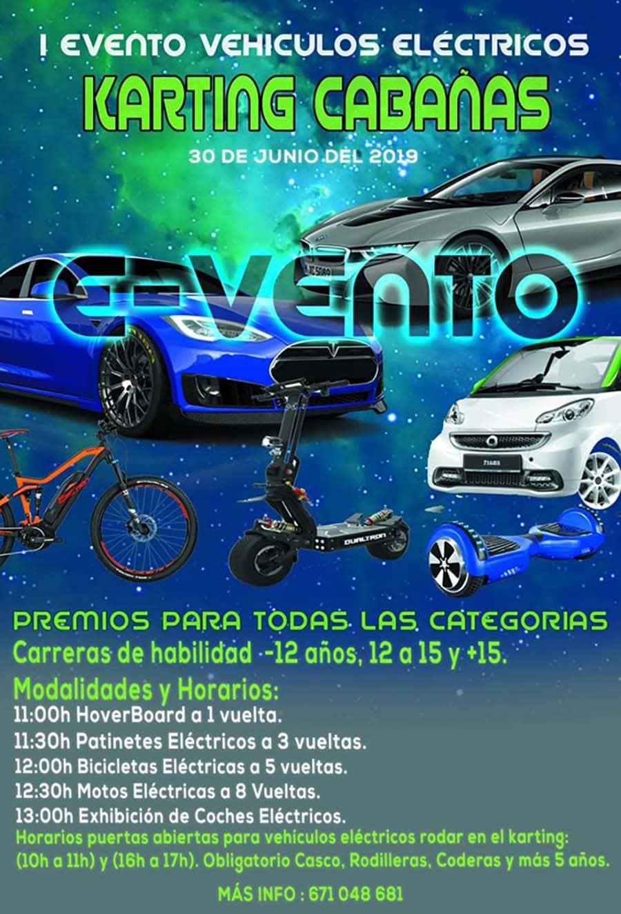 programa evento coches electricos karting cabanas el bierzo