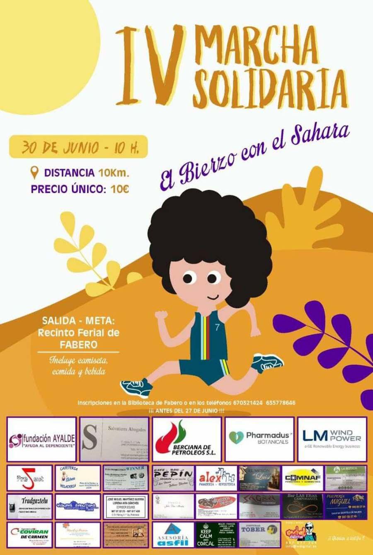 cartel marcha solidaria sahara fabero el bierzo