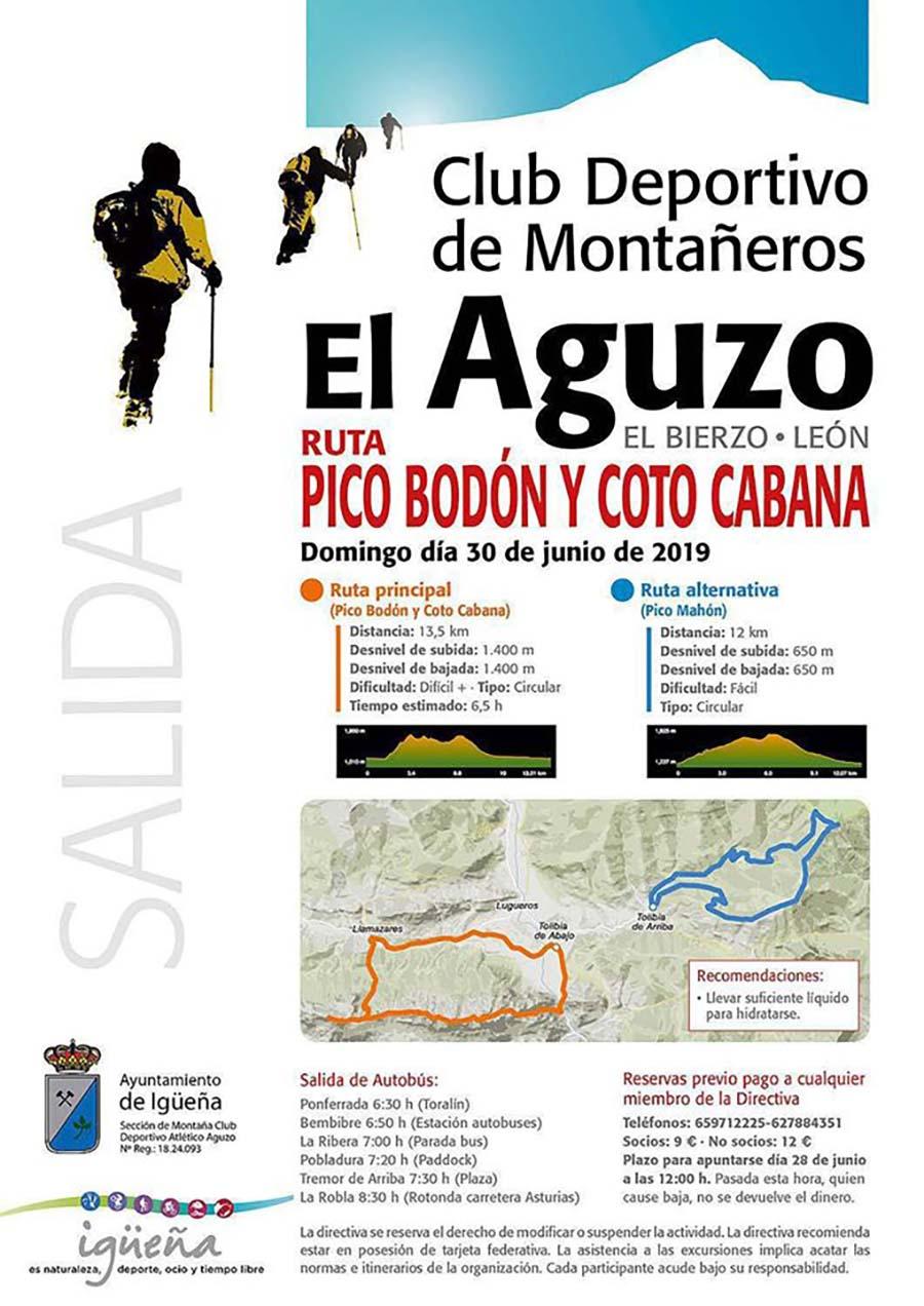 programa ruta montana club el aguzo iguena el bierzo