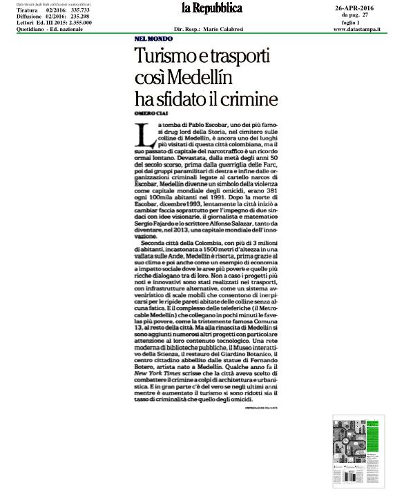 Diario la Reppublica de Italia