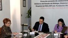 Sistema DIF Hidalgo signaron convenio de colaboración con la fundación Michou y Mau2
