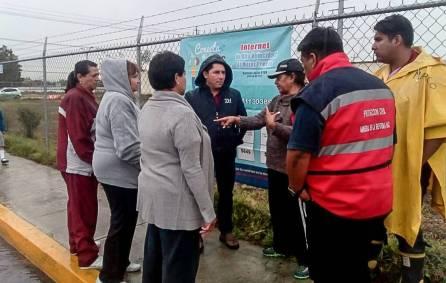 Alcalde de Mineral de la Reforma supervisa labores de limpieza y desazolve tras fuerte lluvia 1