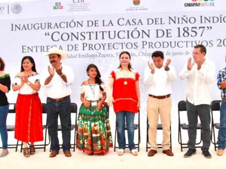 """Nuvia Mayorga Delgado inauguró la Casa del Niño Indígena """"Constitución 1857"""" en Chiapas4"""