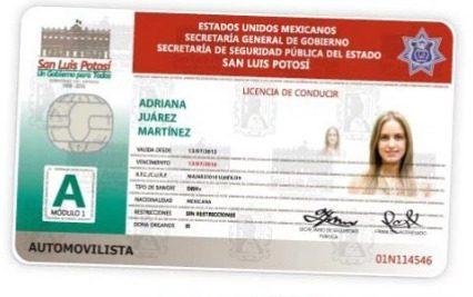 Licencias de conducir en San Luis Potosí