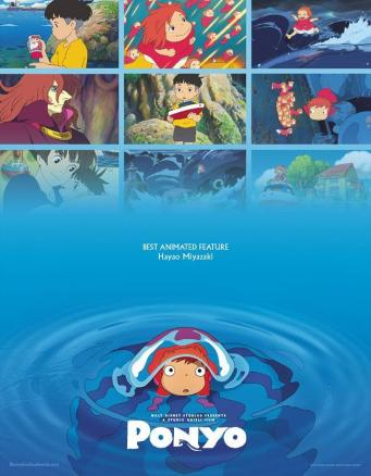 Ponyo cartel 1 - ciclo Hayao Miyazaki Cineteca Alameda SLP