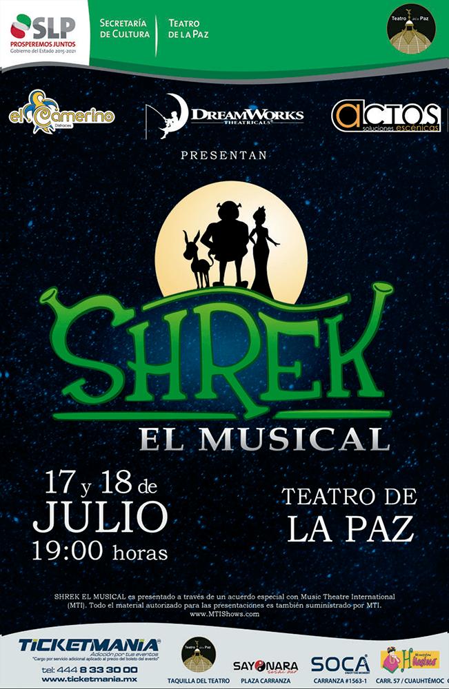 Shrek musical Teatro de la Paz SLP