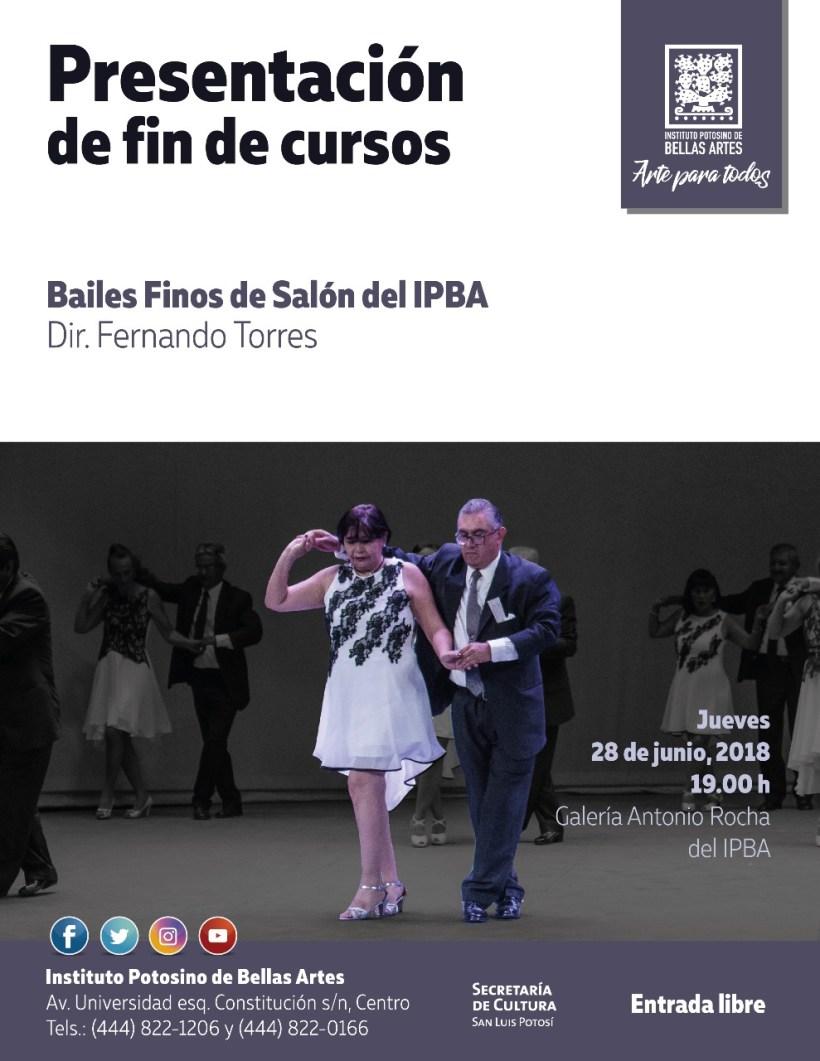 Bailes finos de salón Bellas artes SLP