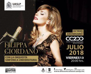 Filippa Giordano con la Orquesta sinfónica universitaria @ Centro Cultural Universitario Bicentenario(CC200) | San Luis Potosí | San Luis Potosí | México