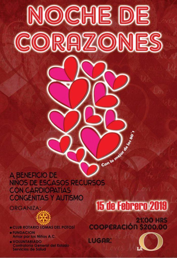 Noche de Corazones Club Rotario Lomas del Potosí