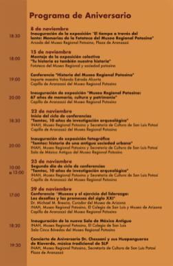 Programa de Aniversario