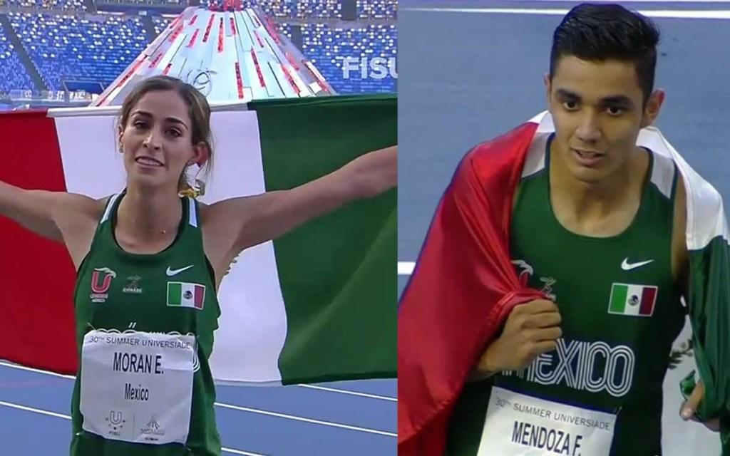 ¡Históricos! Paola Morán y Valente Mendoza ganan oro en Universiada Mundial