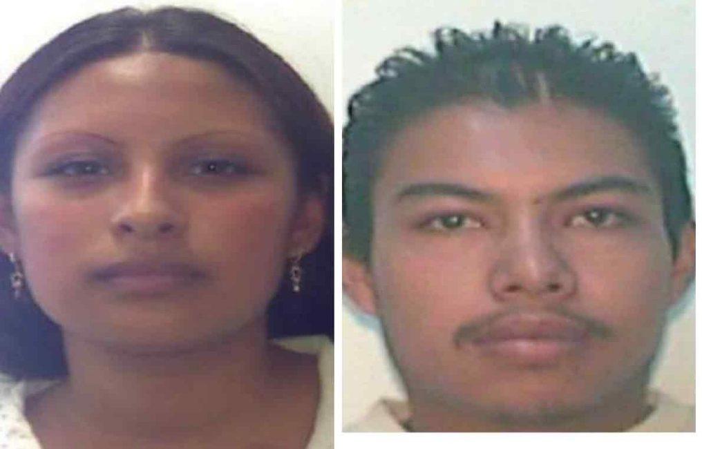 Gladis Giovana Cruz y Mario Alberto Reyes Nájera presuntos responsables del homicidio de Fátima