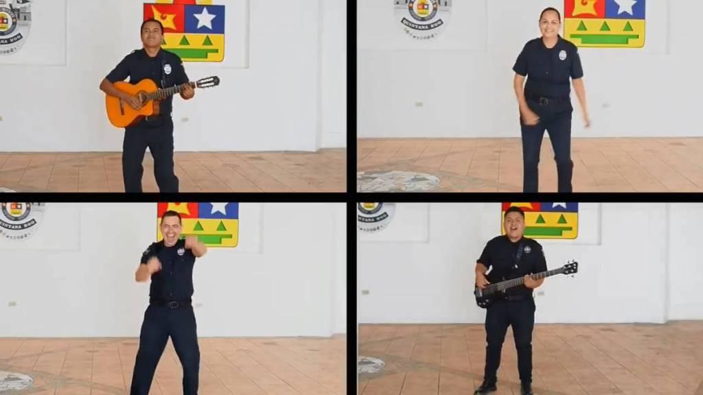 Al ritmo del 'Mariachi Loco' la policía de Quintana Roo te enseña en vídeo a combatir el Coronavirus