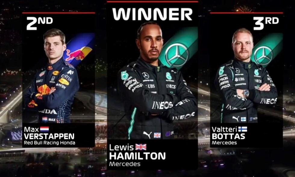 Bahrein: Gana Hamilton, Verstappen es segundo y Checo Pérez con un carrerón llega en quinto