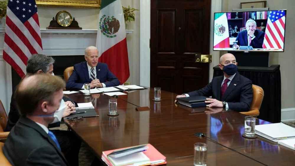 Obrador y Biden sostienen su primer encuentro virtual, abordaron temas de migración y los efectos del COVID
